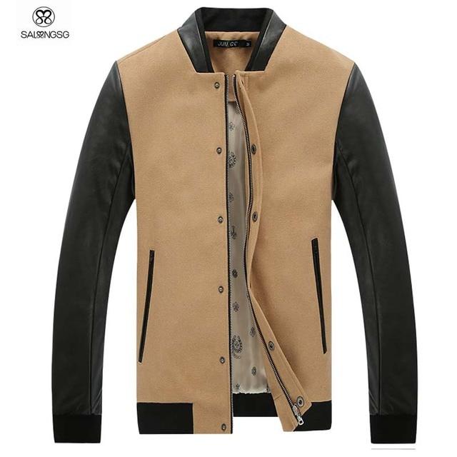 S Designer Bomber Jacket | Mens Bomber Jacket With Leather Sleeve Brand Designer Men Bomber