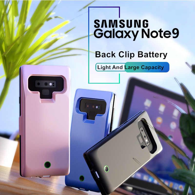 Para Samsung Galaxy Note 9 funda de batería 7000 Mah cargador inteligente banco de energía para Samsung Note 9 funda de batería nota 9