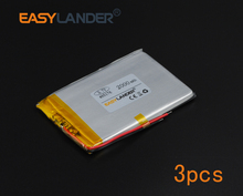 3pcs/Lot 3.7V 2000mAh Polymer Li-ion Battery For E-Book Power Bank PDA Portable DVD Consumer electronics safety lamp 465176