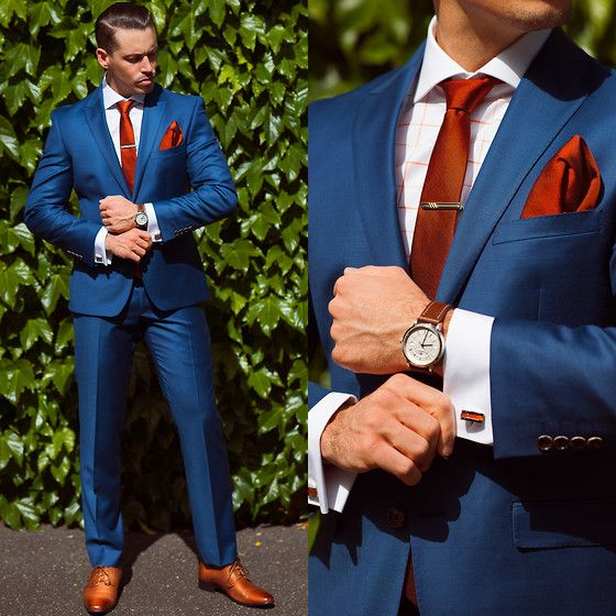 Newest Handsome Royal Blue Men Morning Suits 2 Pieces Wedding Prom ...