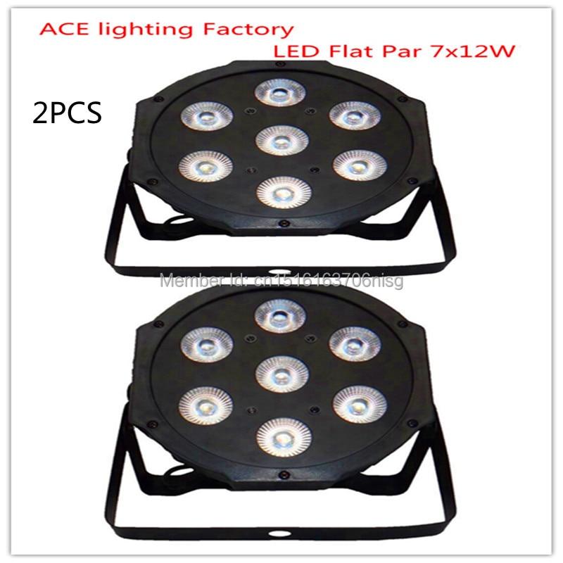 2pcs/lot Free&Fast shipping hot selling good quality flat led par 7x12w rgbw quad stage wash light led lamp chandelier original 1 pcs msc 3675 r3m0e r5m0e1 selling with good quality