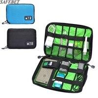 Safebet الماركة كابل بيانات سماعات سلك الهاتف المحمول بطاقة sd usb جهاز منظم حقيبة النساء الرجال ضرورة السفر الملحقات