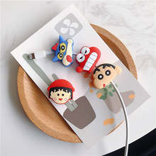 Cable bite protector Mobile Phone Connector Accessory Charger Wire Winder Organizer Doll Model Crayon Shinchan Chibi Maruko(China)