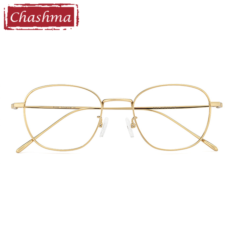 Anti Blue Ray Prescription Glasses Photochromic Women Optical Glasses Frame Titanium Eyewear for Men Gold Fashion Eye Glasses(China)
