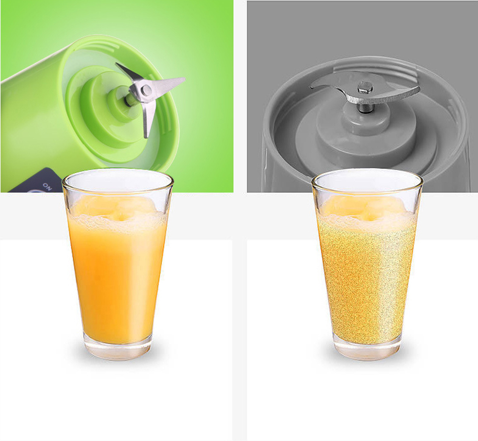 380ml Portable Juice Blender USB Juicer Cup Multi-function Fruit Mixer Six Blade Mixing Machine Smoothies Baby Food dropshipping