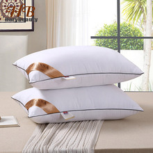 2 قطعة وسادة مرنة إدراج وسادة عالية الجودة الداخلية النوم وسادة بيضاء الرقبة الرعاية الصحية الفراش وسادة الذاكرة للنوم