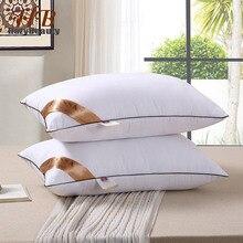 Oreiller élastique de qualité supérieure, 2 pièces, oreiller blanc à lintérieur du cou, soins de santé, oreiller à mémoire pour le lit