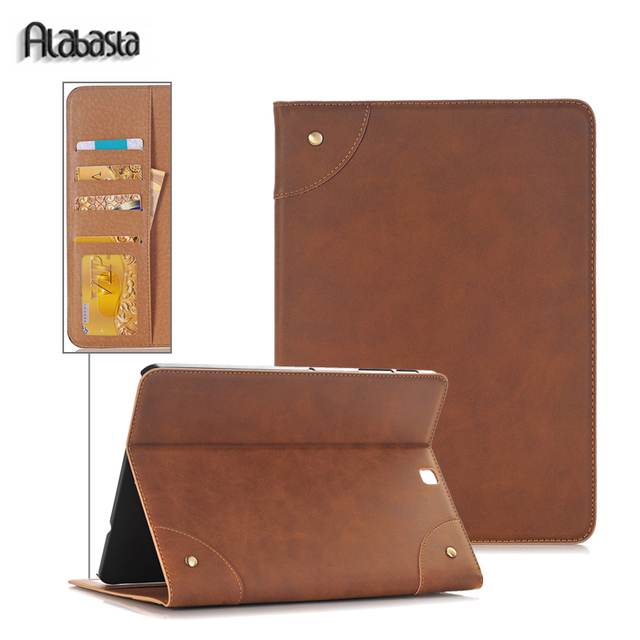Alabasta For Samsung Galaxy Tab S2 8.0 inch T710 T713 T715 SM-T710 SM-T713 Leather Smart Case Cover Wallet card pocket stylus
