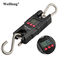 300kg/600lb 100g Electronic Balance Portable Mini Heavy Duty Crane Scale LCD Digital Scales Fishing Hanging Hook Weight Scales
