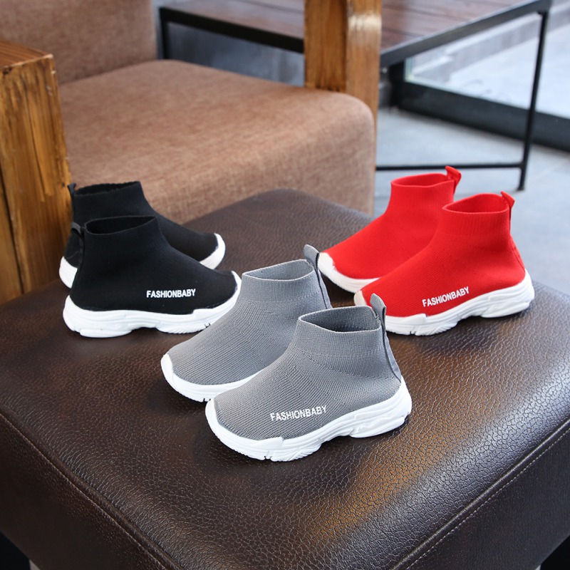 Toddler Kids Shoes Elastic Sports & Leisure Baby Boys Girls Shoes Ankle Boots For Children Kids Breathable Sport Shoes Sneakers