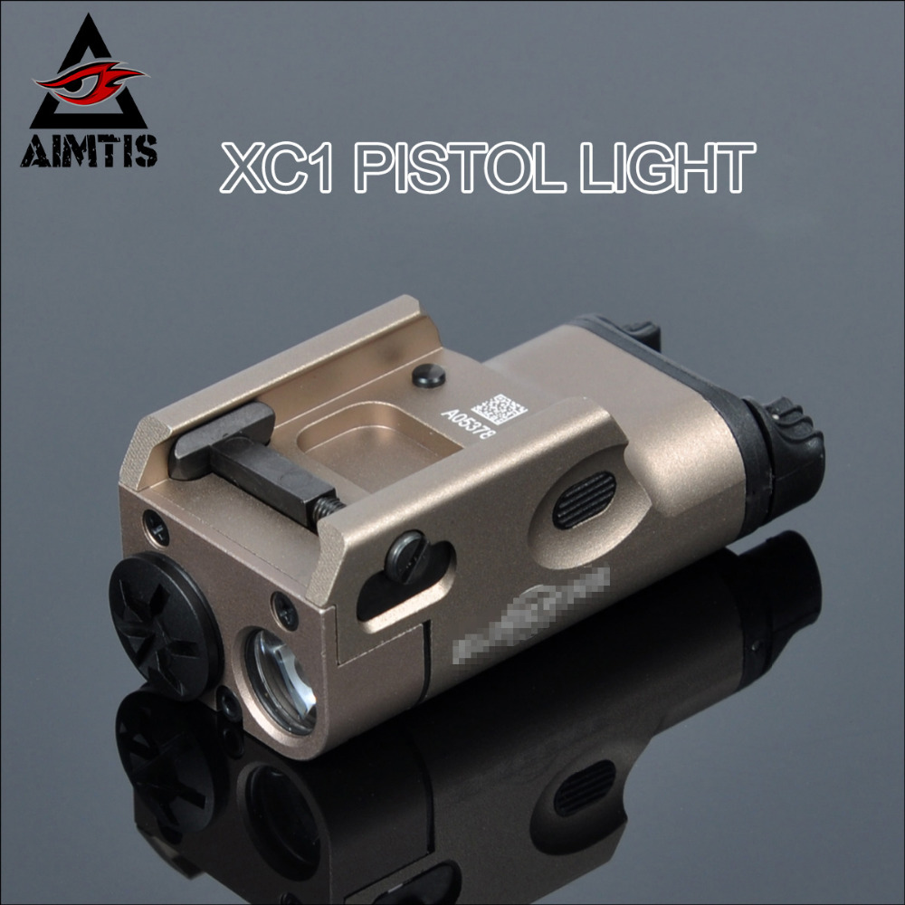 AIMTIS SF XC1 Tactical Light Pistol Mini Hunting LED Flashlight Airsoft Military Weapon Lights Tac Lanterna Shot G17 G18 G19 peq15 la5 airsoft spotlight weapon shotguns light tactical flashlight military red dot ir laser pistol lanterna rifle lights