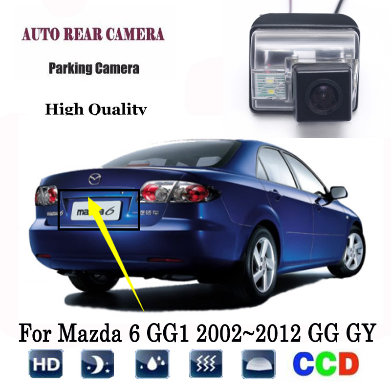 Rear View Camera For Mazda 6 GG1 2002~2012 GG GY Wagon CCD Night Vision Reversing Camera License Plate Camera Backup