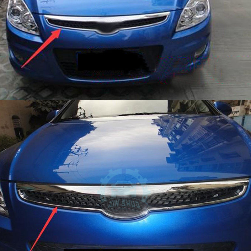 High Quality Car Part Front Grille Grill Decorative Trim For Hyundai I30 2007-2013 for chevrolet malibu 2012 2013 2014 grill grille front racing cover high quality new aluminum alloy 3pcs