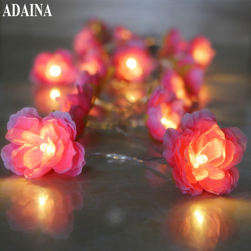 1/2/3/4/5M 10/40 LEDs Rose Table Lights Wire String Light For Christmas Wedding Lighting ...