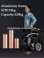 2018 Top sell lightweight folding electric wheelchair for disabled