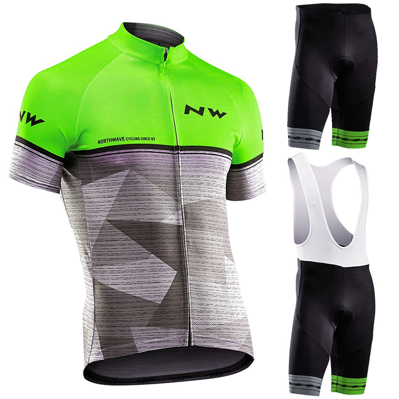 Northwave Nw Summer Cycling Set Breathable Jersey MTB Bicycle Cycling Clothing Mountain Bike Clothing Suit Clothes Cycling