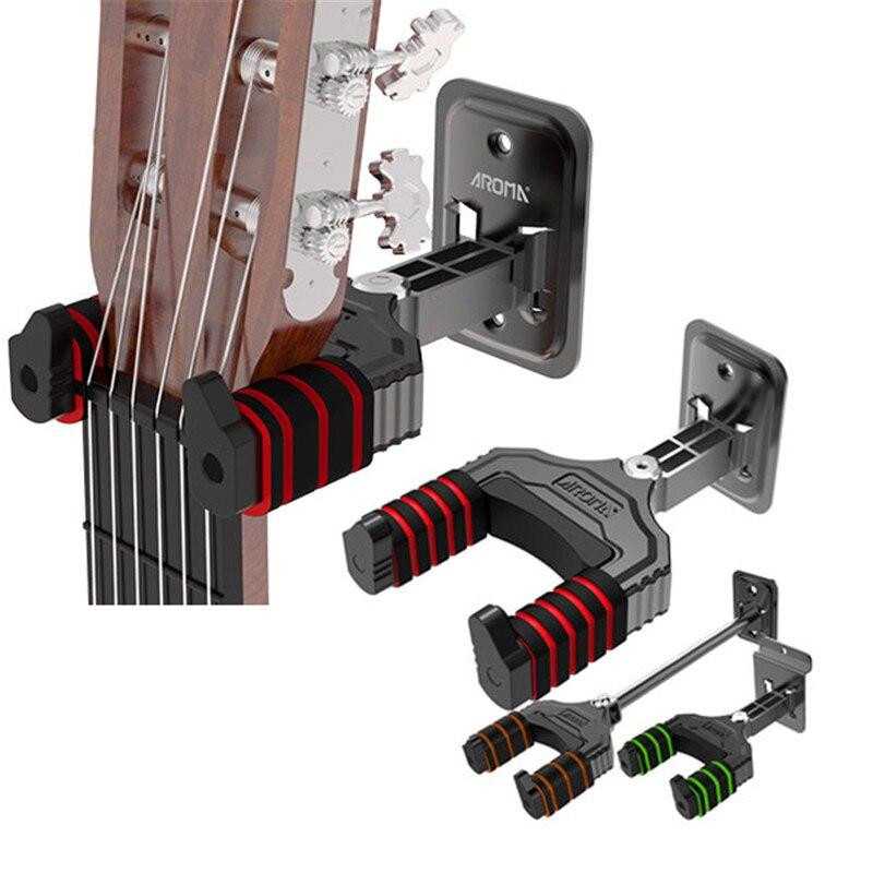 Aroma ah-83 guitarra ukulele bass ganchos de montaje del sostenedor del soporte