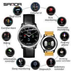 SANDA N58 nowych mężczyzna ekg inteligentne cyfrowe zegarki na rękę kobiet inteligentne leki przypomnienie zegarki do pomiaru tętna kalorii krok zegarek