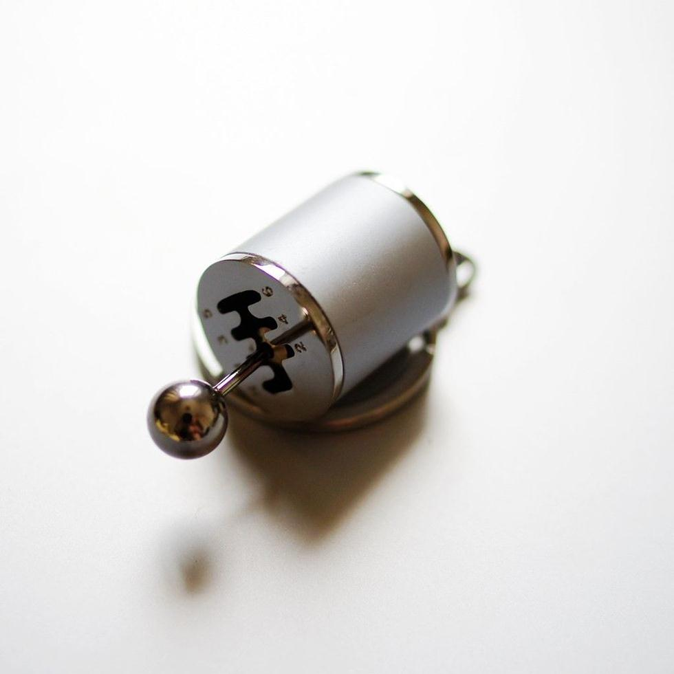 1 шт. Горячая мини-автомобильная ручка переключения передач брелок Брелок Серебряный кулон подарки украшения Портативный прочный