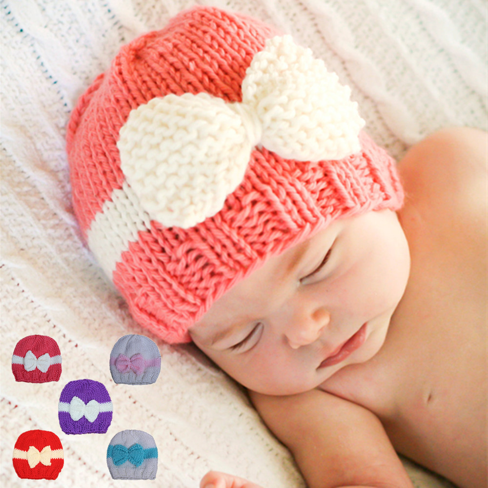5983a93e483 Best buy Free shipping Newborn babies manual wool without eaves beanie  girls 0 to 3 m autumn winter hats lovely pictures of the props online cheap