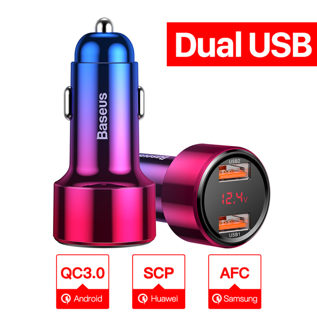 Dual USB Red