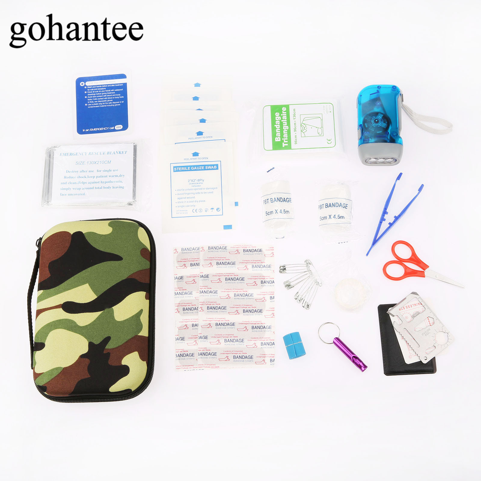 39pcs/Pack (16 kinds) Travel/Home First Aid Kit Medical Emergency Kits Treatment Pack Outdoor Wilderness Survival EVA Pouch Bag