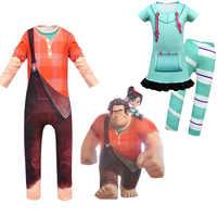 Anime Kleidung Vanellope Von Schweetz Halloween Kostüm Wrack Es Ralph2 Ralph Bricht Die Internet Kleidung für Baby Jungen Mädchen Kinder