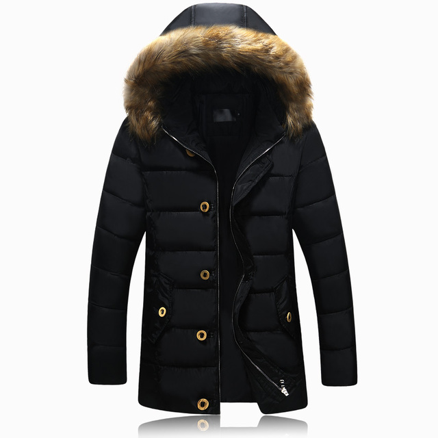 2017 Winter New Casual Long Winter Jacket Men Fur Collar Hooded Waterproof Manteau Homme Hiver