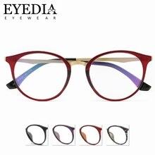 bda8b506d Moda Feminina Luz Oval Óculos Com Templos de Metal Do Vintage Armações de  Óculos Da Marca Projetado Clássico 1670CJ marcos de ga.