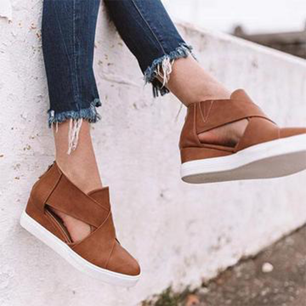 Casual Flats Sneakers Comfortable Shoes Shallow Slip-On Women Ladies Female Vulcanized