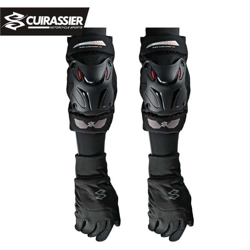 Dibiao Protector Armaduras Espinilleras Set 4 Pcs Moto Motocross Ciclismo Coderas Rodilleras