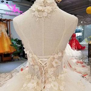 Image 2 - AIJINGYU Simple Dresses Wedding Gowns Cheap Design Light Ball Russian Queen Sexy White Queen Websites Bridal Dress Design