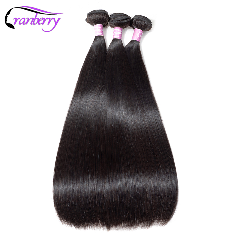 CRANBERRY Hair Peruvian Straight Hair Bundles 4 pcs lot Natural Black Hair Tissage Bresiliens Non Remy
