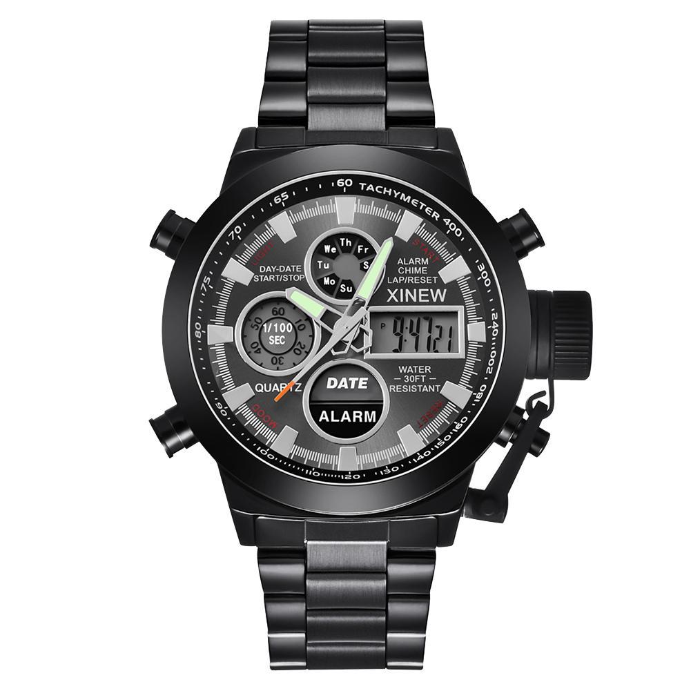 Brillant Sport Frauen Männer Kalender Wasserdicht Dual Display Digital Quarz Armbanduhr Top Marke Relogio Masculino 2019 Neue 100% Original
