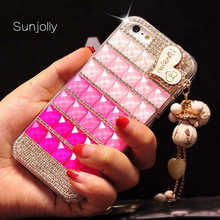 Sunjolly Diamond Case for Samsung Galaxy S8 S7 S6 Edge Plus S5 S4 S3 Note 5 4 3 Lips Bling Crystal Rhinestone Cover coque fundas