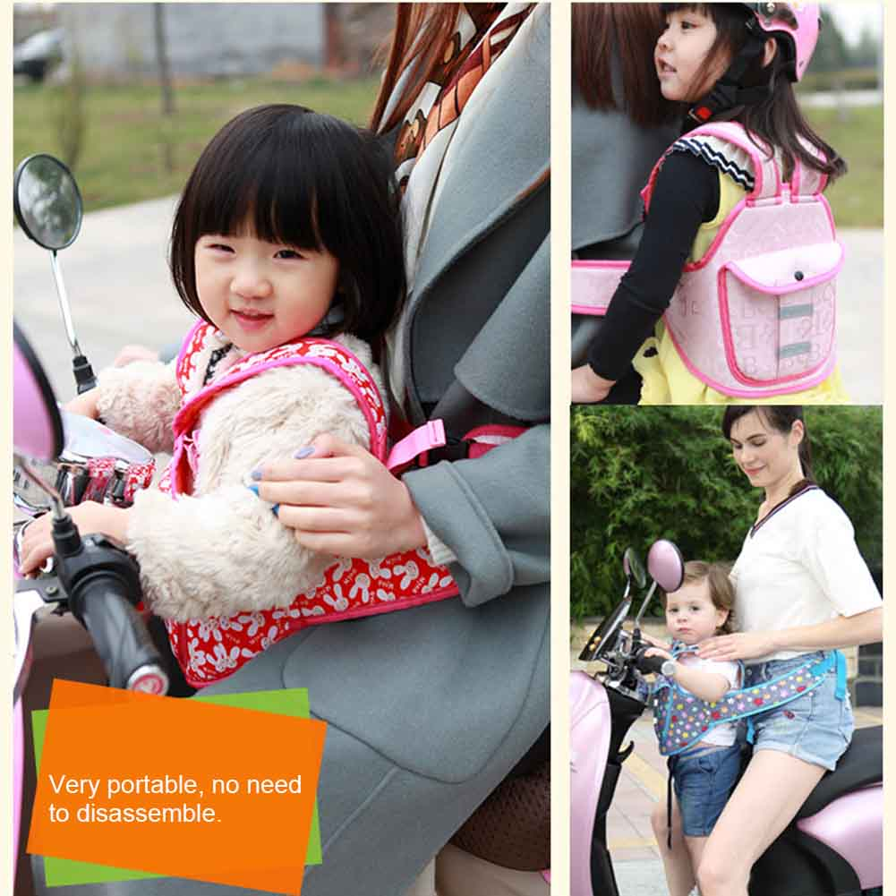 Sincere Hot Selling Children Safety Belt Back Strap Motorcycle Seat Harness Adjustable Breathable For Outdoor Driving A Roaring Trade