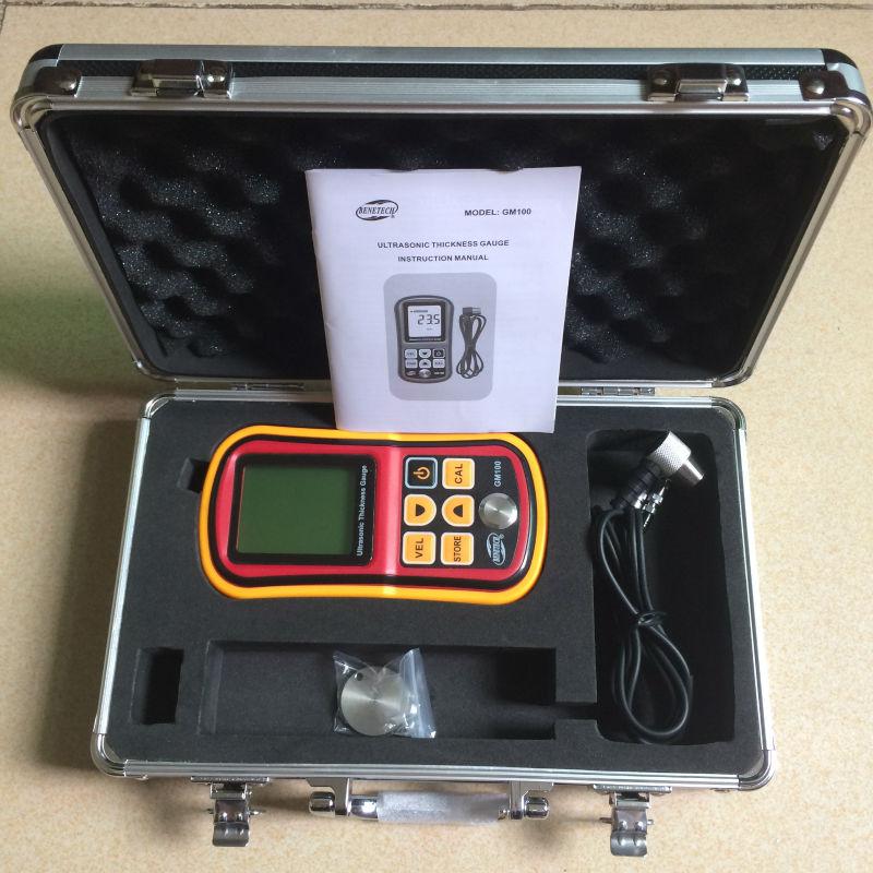 GM100 Digital LCD Ultrasonic Thickness Meter Tester Gauge Metal Testering Width Measuring Instruments as840 ultrasonic thickness gauge 1 2 225mm 1000 9999m s smart sensor portable thickness meter tester