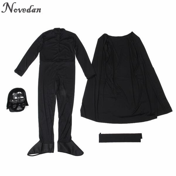 Image 5 - Halloween Costume For Kids Men Darth Vader (Anakin Skywalker) Children Cosplay Party Costume Clothing With Helmet Mask    -