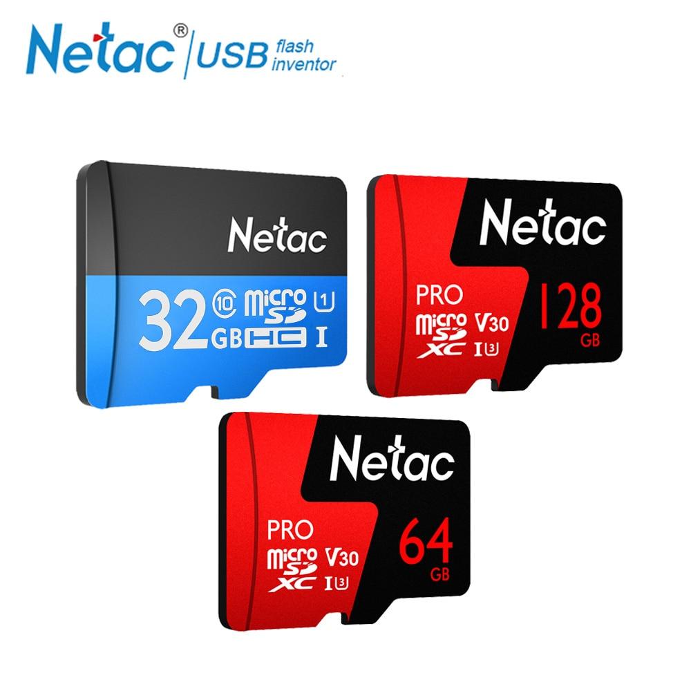 Netac Class 10 32GB 64GB 16 128 GB Micro SD Card 16GB 128GB 32 64 GB TF Card Data Storage Flash Memory Card For Smartphone Phone