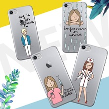 ФОТО spain cute cartoon medicine nurse doctor dentist tpu soft silicone phone cases for iphone se 5 5s 6 6s 6s 7 plus  8 x