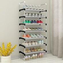 Портативный Простая подставка для обуви быстро собирающийся органайзер для хранения обуви Space Saver для двери без инструмента требуется полка обуви Furntiure