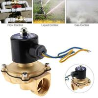 12V 1 inch Brass Electric Solenoid Valve Magnetic Water Air Normally Closed Pneumatic Valve for Water Oil helium gas