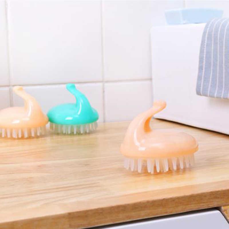 赤ちゃん空気ブラシ櫛ヘッド洗髪頭皮シャンプーソフトマッサージブラシクリーニングケアツール