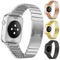 Original de alta qualidade de aço inoxidável link pulseira band & luxo metal inoxidável strap para apple watch 42mm 38mm pulseira
