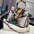 2016 Pequeno Jacaré Luxo Mulheres Bolsa de Couro Famoso Designer Tote Bolsa de Ombro Messenger Bag Ladies Sac Um dos Principais Bolsas Feminina