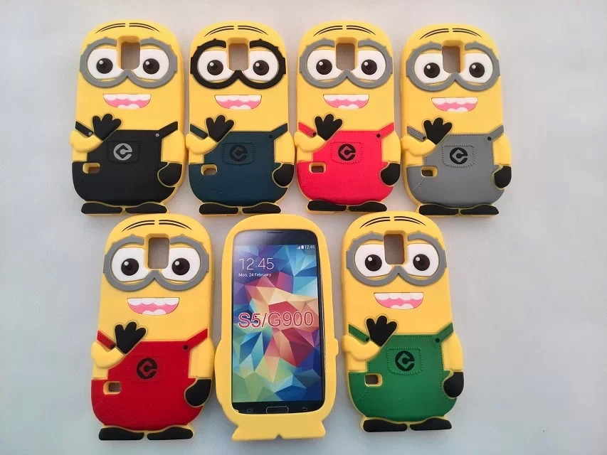 samsung galaxy s5 3d cases. online shop 3d cute cartoon despicable me minion silicone cover case for samsung galaxy s5 i9600 350pcs/lot | aliexpress mobile 3d cases l