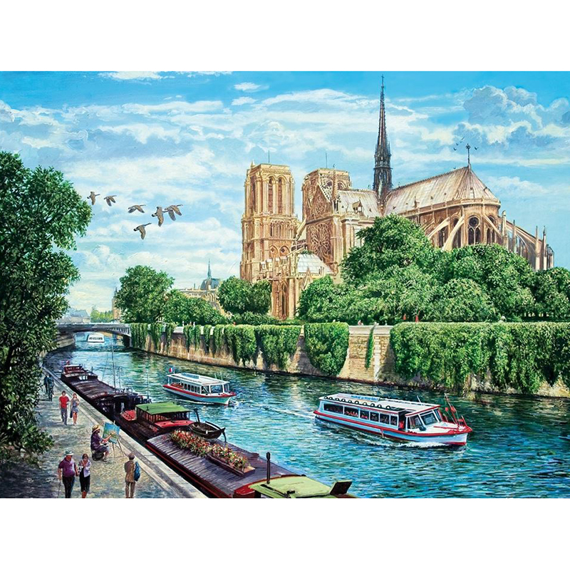 5D Diy Diamond Painting Crystal Diamond Painting Cross Stitch Needlework Home Decorative River Road Scenery BK-3694