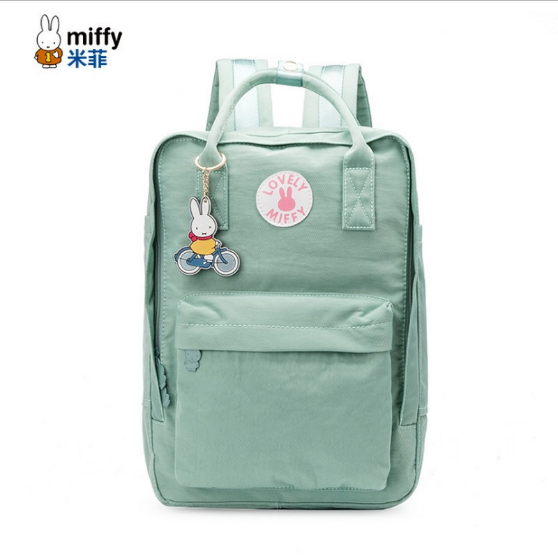 miffy brand Women Youth Canvas Backpack School Bags for Teenager Girls &boys Bookbag Female Laptop travel Backpacks стоимость