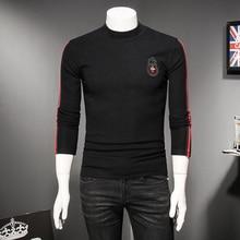 Top Qualität Berühmte Designer UNS Männer T shirts Mode 2019 Herbst Winter Dicken Langen Hülse Männlichen T Hemd Große Yards M 5XL 8327