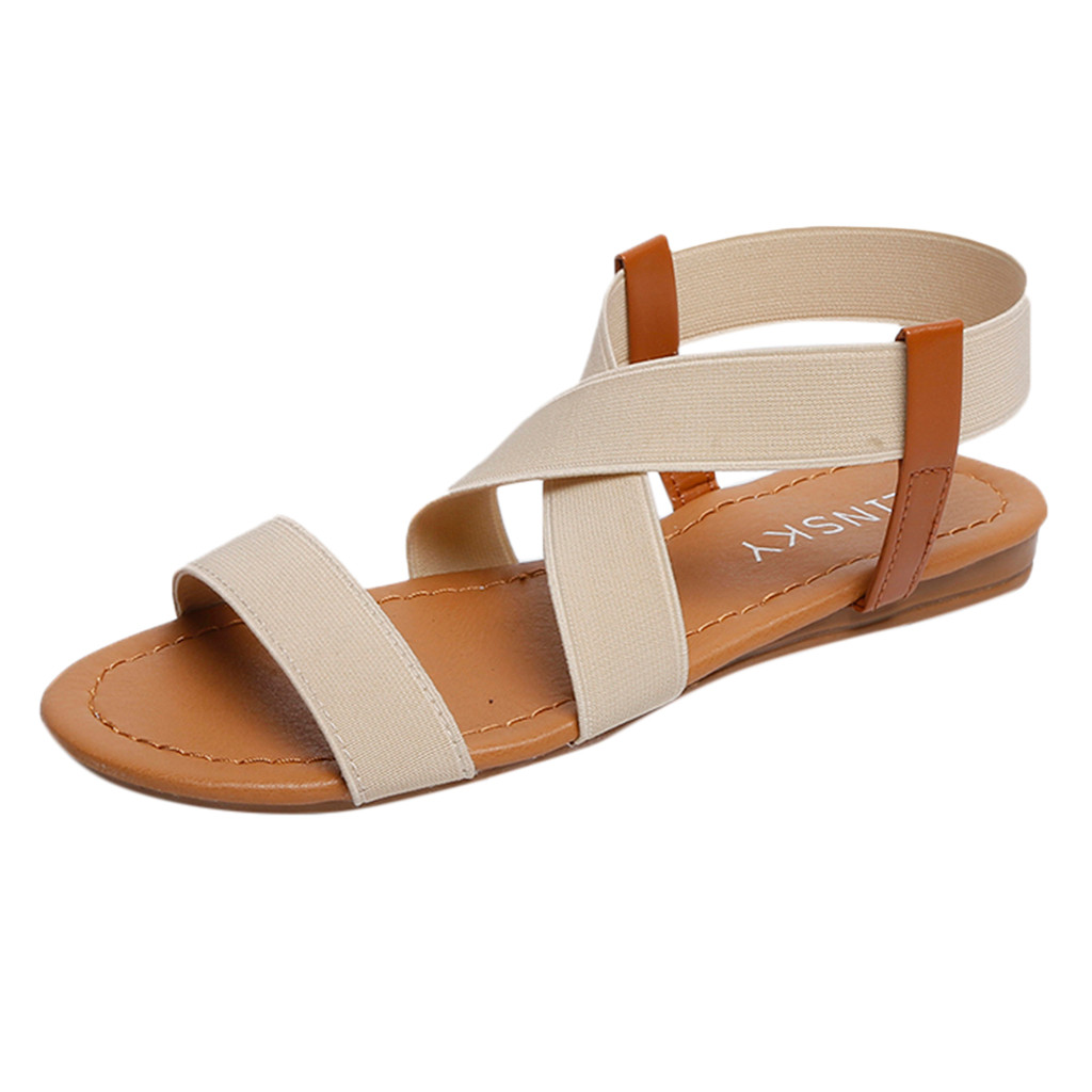 YOUYEDIAN Flat Sandals Women's Shoes Platform Summer Comfortable Beach Ladies -W30